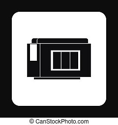 Printer cartridge icon, simple style - Printer cartridge...