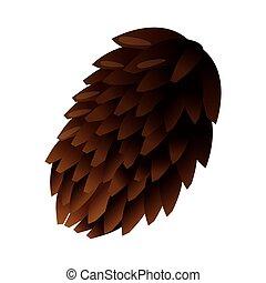 single pine cone icon - flat design single pine cone icon...