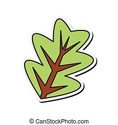 branch with leaves icon