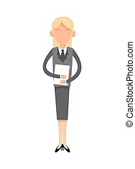 woman character with suit icon