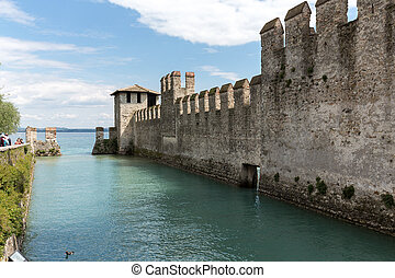 Castello Scaligero di Sirmione (Sirmione Castle), built in...