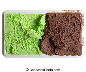 Mint chocolate ice cream - Detail of Mint Chocolate flavour...