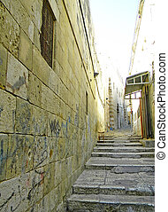 streets of Jerusalem - Street and houses of Mishkenot...
