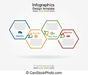 Infographic design template. Vector illustration. -...