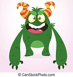 Happy green monster