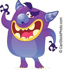 Halloween cartoon vector devil