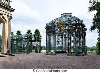 Sanssouci Palace in Potsdam Germany on UNESCO World Heritage...