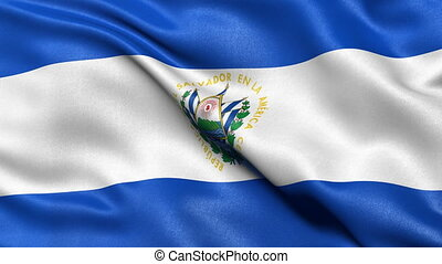 El Salvador flag seamless loop - Seamless loop of El...