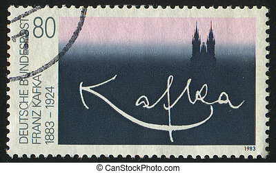 postmark - GERMANY - CIRCA 1983: stamp printed by Germany,...