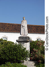 Dom Francisco Gomes statue in the old town of Faro, Portugal