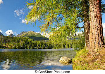 Mountain lake Strbske pleso