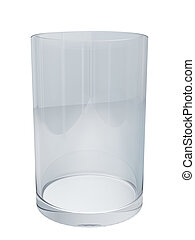 Clean empty glass isolated on white background.