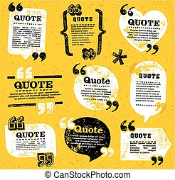 vector quote decoration labels set 4 - big set of vector...