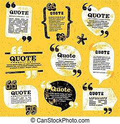 vector quote decoration labels set 4 - big set of vector...