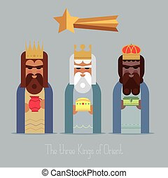 The three Kings of Orient wise men