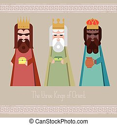 The three Kings of Orient wise men illustration