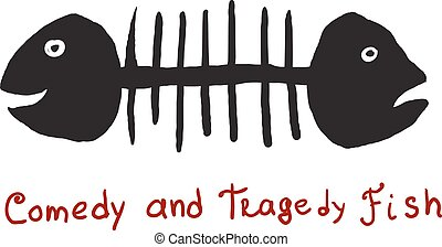 Fish comedy and tragedy - humorous image of two-headed fish...