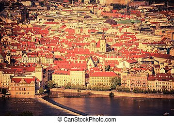City of Prague Czech Republic Prague Summer Cityscape