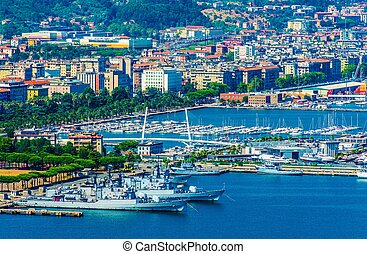 La Spezia City Marina Italy. La Spezia Cityscape and the Bay