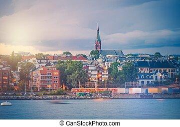 Oslo Norway Oceanfront. Part of City of Oslo. Norwegian...
