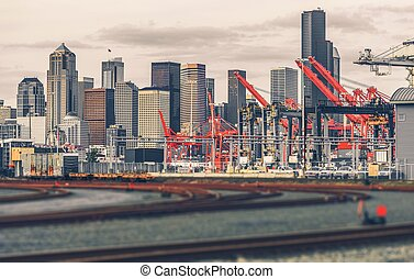 Seattle Skyline Washington - The City of Seattle Skyline,...