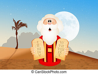 Moses with tables of the ten commandments