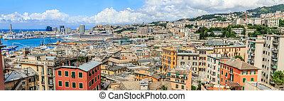 Genoa port sea view