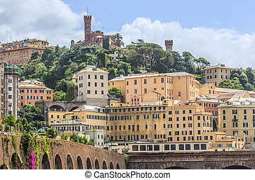 Castello dAlbertis castle in Genoa summer view