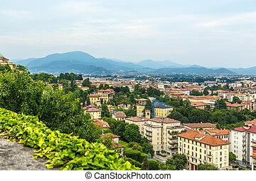 Bergamo city view from above horizontal