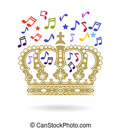 the Crown with sheet music