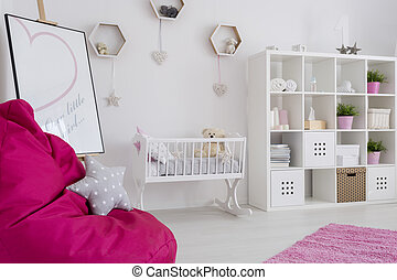 Interior full of pastel colors - Baby girl room in pastel...