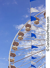 Ferris and pennant garland - October festival Ferris and...