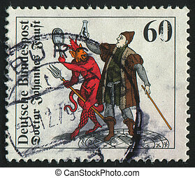 postmark - GERMANY - CIRCA 1979: stamp printed by Germany,...