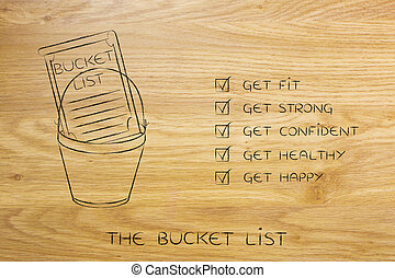 bucket list of fitness and healthy goals to accomplish -...