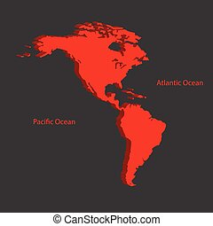 Two continents North and South America
