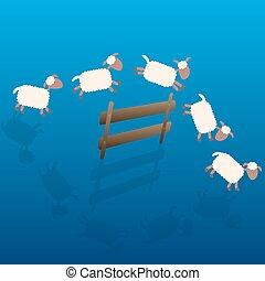 Counting Sheep Cartoon Night - Counting sheep - cartoon...
