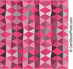 Pink mosaic background consist of triangles