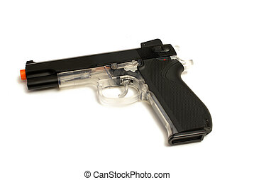 Pellt Gun Pistol - An isolated image of a hand style pellet...