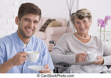 A cup of tea with my favourite pensioner - Young carer and...