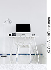 Perfect home office space - Light study room with floor...