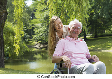 Special bond between grandfather and granddaughter - Image...