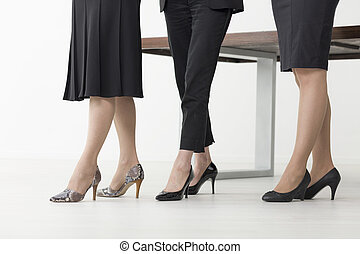 Armed in professional skills and high heels - Shot of...