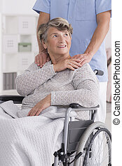 I can count on him - Shot of a positive senior woman sitting...
