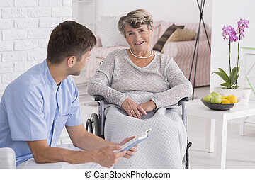 The best carer i've ever had - Positive senior woman on a...
