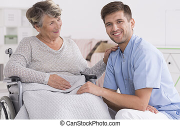 He's like a grandson to me - Positive senior woman on a...