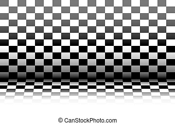 Room in the style of a chessboard - vector illustration - A...