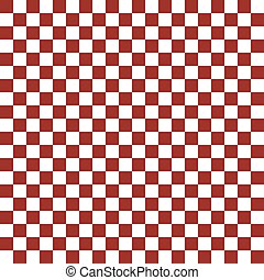 Red pattern chessboard - vector illustration. - Red and...