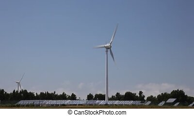 Wind turbine - Electricity generating wind turbine and...