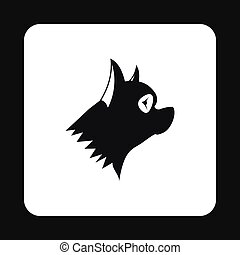 Pinscher dog icon, simple style - Pinscher dog icon in...