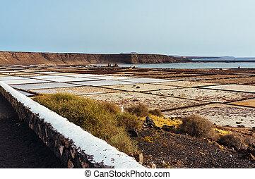 Salinas of Lanzarote - Salt fields, known as Las Salinas de...